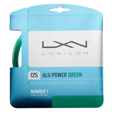 Luxilon ALU Power 16L Tennis String (Green)
