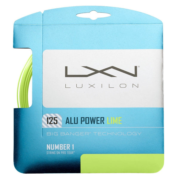 Luxilon ALU Power 16L Tennis String (Lime) - RacquetGuys