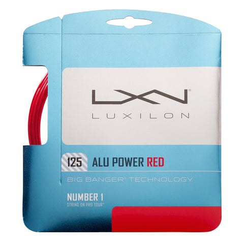 Luxilon ALU Power 16L Tennis String (Red)