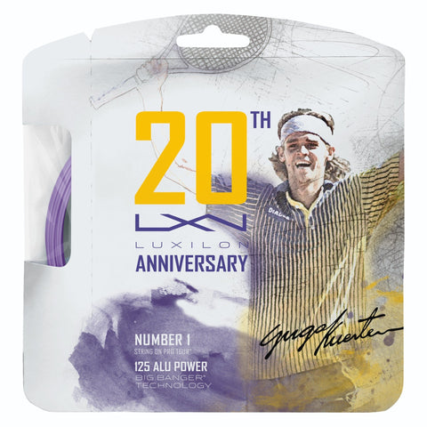 Luxilon ALU Power 16L 20th Anniversary Tennis String (Purple) - RacquetGuys