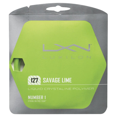 Luxilon Savage 16 Tennis String (Lime) - RacquetGuys