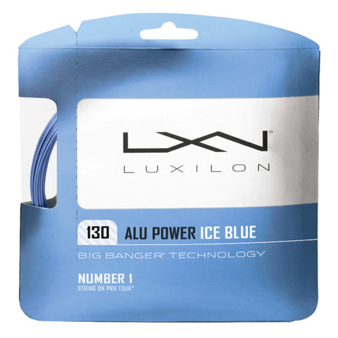 Luxilon ALU Power 16 Tennis String (Blue) - RacquetGuys