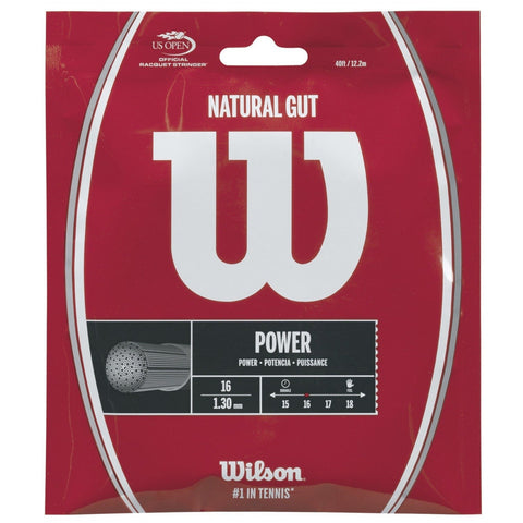 Wilson Natural Gut 16 Tennis String (Natural) - RacquetGuys.ca