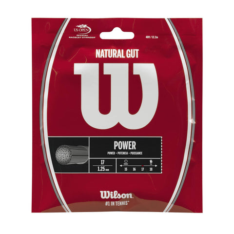 Wilson Natural Gut 17 Tennis String (Natural)