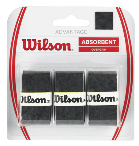 Wilson Advantage Overgrips 3 Pack (Black)