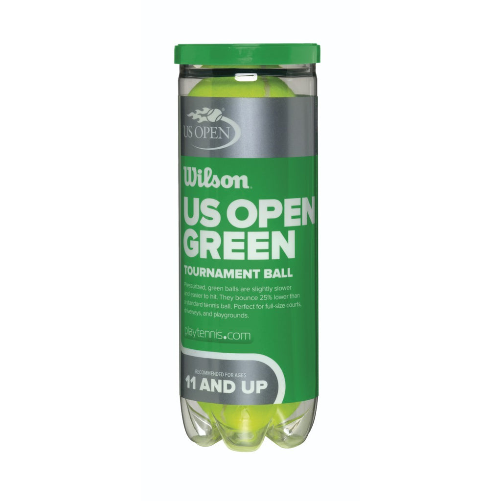 Wilson US Open Tournament 78' Green Felt Junior Tennis Balls - 24 Can Case - RacquetGuys.ca