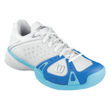 Wilson Rush Pro Women's Tennis Shoe (White/Pool/Oceanna) - RacquetGuys