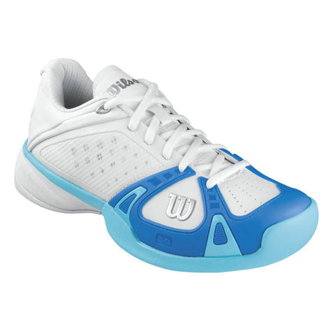 Wilson Rush Pro Women's Tennis Shoe (White/Pool/Oceanna) - RacquetGuys.ca