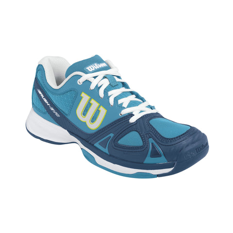 Wilson Women's Rush Evo Light Tennis Shoes (Ultramarine/Teal) - RacquetGuys