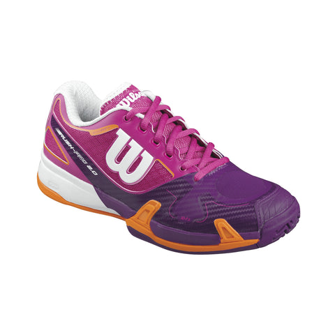 Wilson Rush Pro 2.0 Women's Tennis Shoe (Fiesta Pink/Dark Plum)