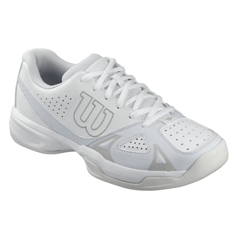Wilson Rush Open 2.0 Women's Tennis Shoe (White/Grey) - RacquetGuys