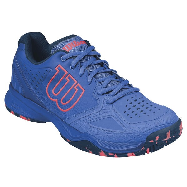 Wilson Kaos Comp Women's Tennis Shoe (Blue/Orange) - RacquetGuys