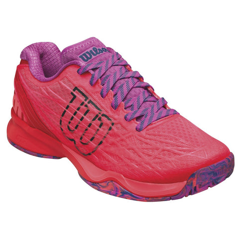 Wilson Kaos Women's Tennis Shoe (Orange/Violet) - RacquetGuys