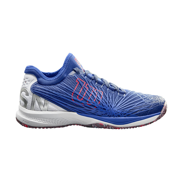 Wilson Kaos 2.0 SFT Mens Tennis Shoe (Blue/White/Red) - RacquetGuys