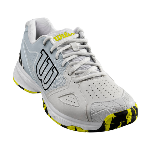 Wilson Kaos Devo Mens Tennis Shoe (Pearl/Blue/Yellow) - RacquetGuys