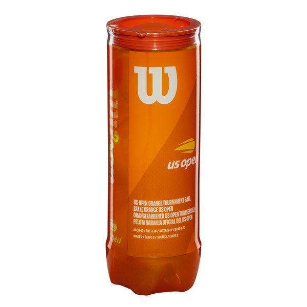 Wilson US Open Tournament 60' Orange Felt Junior Tennis Balls 24 Can Case - RacquetGuys