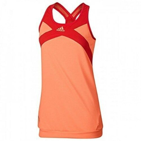 adidas Women's Adizero Tank Top (Melon Orange/Red) - RacquetGuys