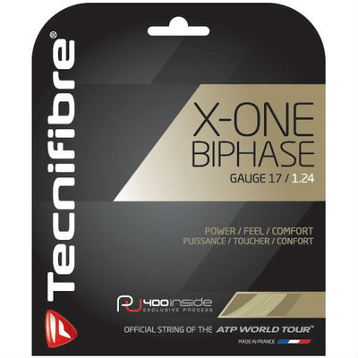 Tecnifibre X-One Biphase 17 Tennis String (Natural)