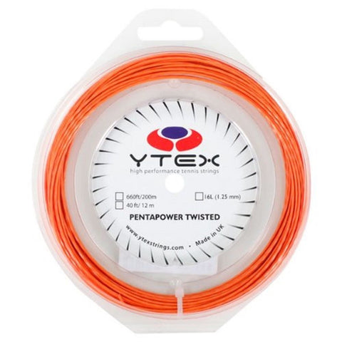 Ytex Pentapower Twisted 16L Tennis String Reel (Terracota)