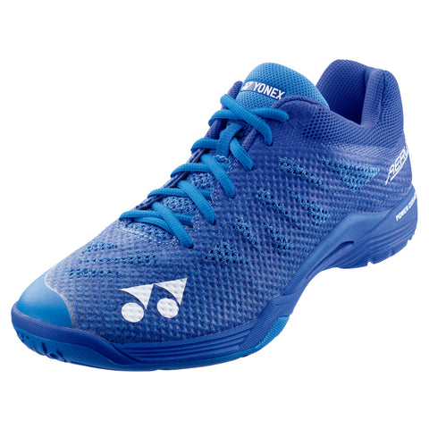 Yonex Power Cushion Aerus 3 Men's Indoor Court Shoe (Blue) - RacquetGuys