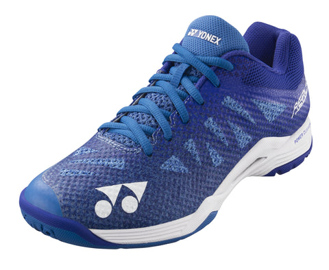 Yonex Power Cushion Aerus 3 Women's Indoor Court Shoe (Blue) - RacquetGuys
