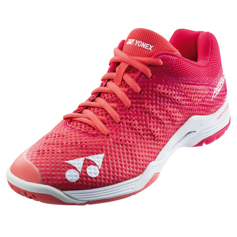 Yonex Power Cushion Aerus 3 Women's Indoor Court Shoe (Rose) - RacquetGuys