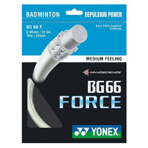 Yonex BG 66 Force Badminton String (White) - RacquetGuys