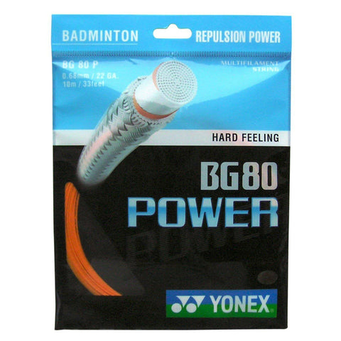 Yonex BG 80 Power Badminton String (Orange) - RacquetGuys