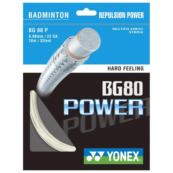 Yonex BG 80 Power Badminton String (White) - RacquetGuys