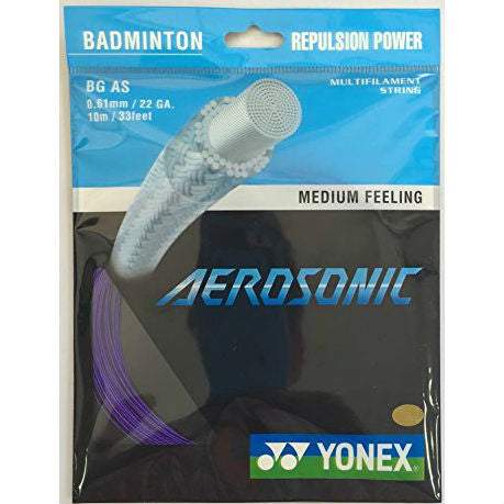 Yonex BG Aerosonic Badminton String (Purple) - RacquetGuys