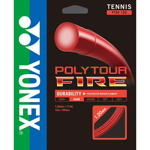 Yonex Poly Tour Fire 16 Tennis String (Red) - RacquetGuys