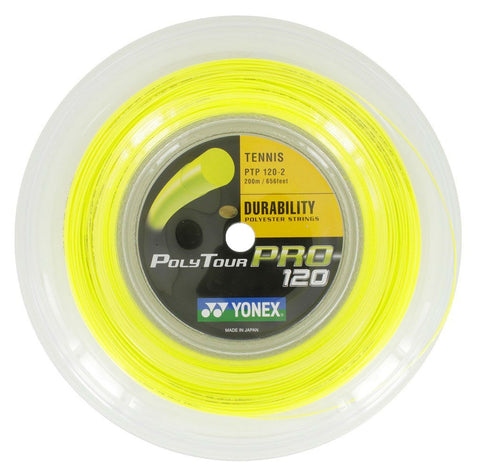 Yonex Poly Tour Pro 16L Tennis String Reel (Yellow) - RacquetGuys