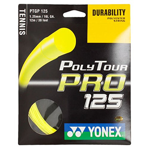 Yonex Poly Tour Pro 16L Tennis Strings (Yellow) - RacquetGuys