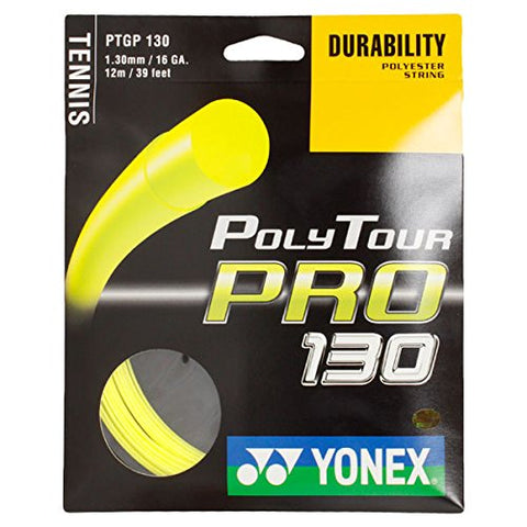Yonex Poly Tour Pro 16 Tennis String (Yellow) - RacquetGuys
