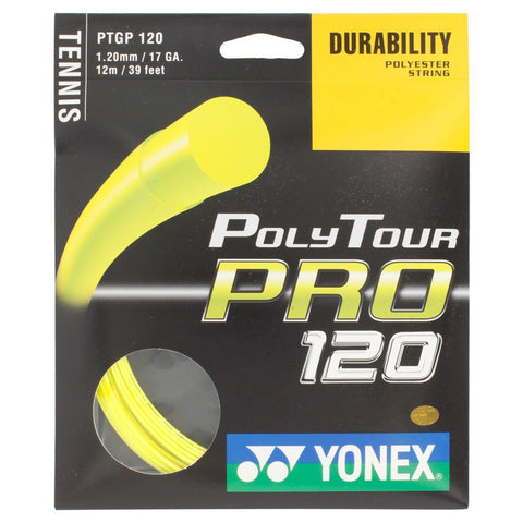 Yonex Poly Tour Pro 17 Tennis Strings (Yellow) - RacquetGuys.ca