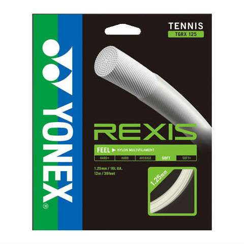 Yonex Rexis 16L Multifilament Poly Tennis String (Natural) - RacquetGuys.ca