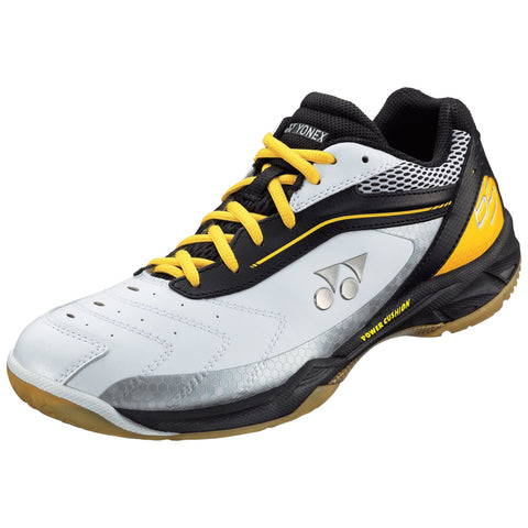 Yonex Power Cushion SHB 65 Mens Indoor Court Shoe (Black/Yellow) - RacquetGuys