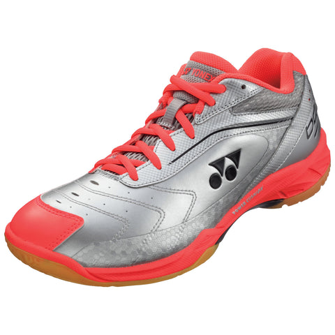 Yonex Power Cushion SHB 65 Mens Indoor Court Shoe (Silver/Orange) - RacquetGuys.ca
