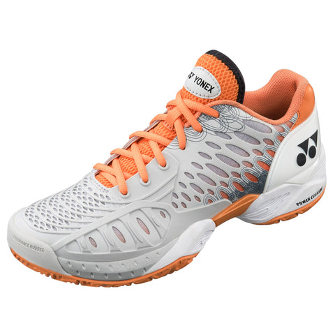 Yonex Power Cushion Eclipsion Women's Tennis Shoe (Grey/Orange) - RacquetGuys.ca