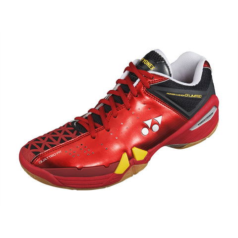 Yonex SHB-01 Ltd Mens Indoor Court Shoe (Red/Yellow) - RacquetGuys