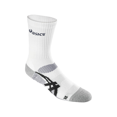 Asics Resolution Top Unisex Tennis Socks (White/Black)