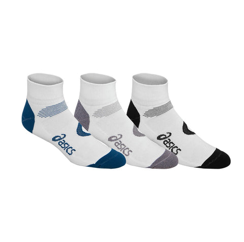 Asics Intensity Quarter 3 Pack Socks (Poseidon) - RacquetGuys