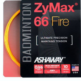 Ashaway ZyMax 66 Fire Badminton String (Orange) - RacquetGuys.ca