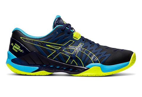 Asics Blast FF 2 Men's Indoor Court Shoe (Black/Safety Yellow) - RacquetGuys