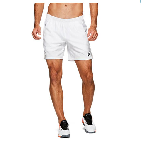 Asics Men's Elite 7 Inch Short (White) - RacquetGuys
