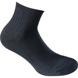 Gamma Dri-Tech Quarter Top Socks (Black) - RacquetGuys
