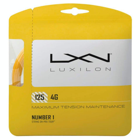 Luxilon 4G 16L Tennis String (Gold) - RacquetGuys