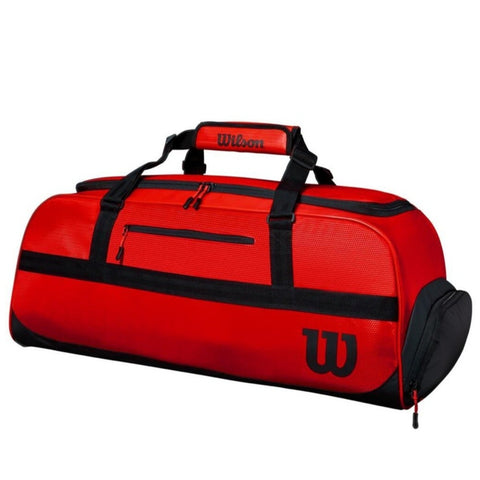 Wilson Tour Duffel Large 3 Pack Racquet Bag (Red) - RacquetGuys.ca
