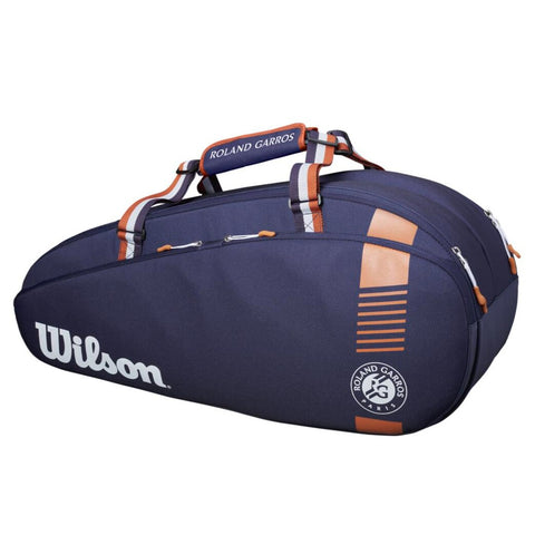 Wilson Roland Garros Team 6 Pack Racquet Bag (Navy/Orange) - RacquetGuys