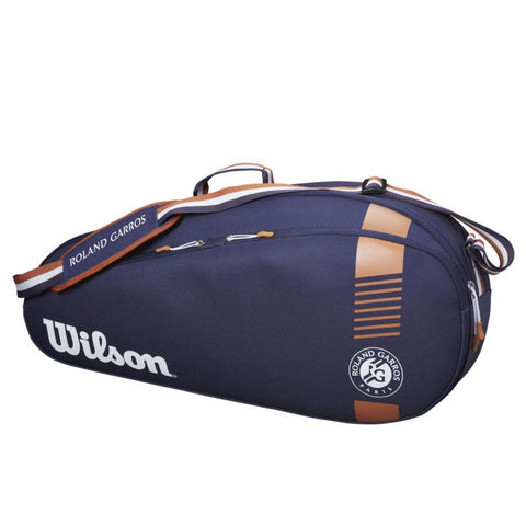 Wilson Roland Garros Team 3 Pack Racquet Bag (Navy/Orange) - RacquetGuys
